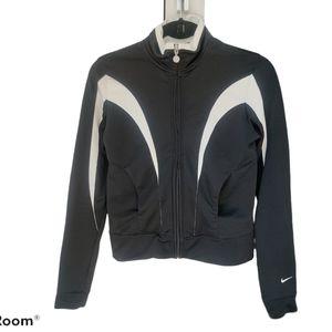 Nike Zip-Up Black & White Track Jacket Size Small